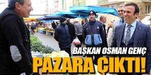 Canik Belediye Başkanı Osman Genç Pazarın Nabzını Tuttu