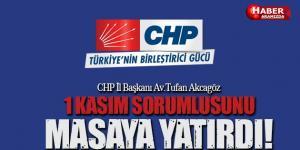 CHP 1 Kasım Sorumlusunu Masaya Yatırdı!