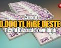 Esnafa 30.000 TL HİBE DESTEĞİ Resmi Gazetede Yayınlandı