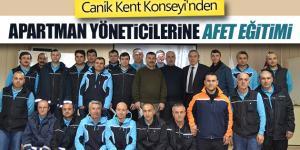 Canik Kent Konseyi'nden Apartman Yöneticilerine AFET Eğitimi