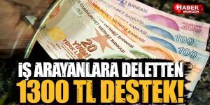 İş arayanlara devletten aylık 1300 TL DESTEK