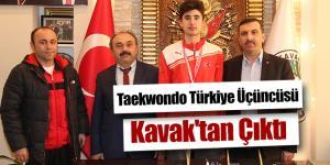 Taekwondo Türkiye Üçüncüsü Kavak'tan Çıktı