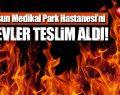 Samsun Medikal Park Hastanesi'nde Yangın! Böyle Alevlere Teslim Oldu!