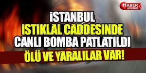 İstanbul İstiklal Caddesi'nde patlama!