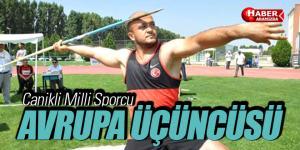 Canikli Milli Sporcu Avrupa Üçüncüsü
