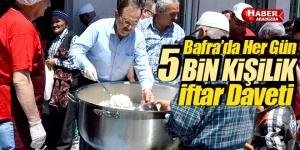 Bafra'dan Her Gün 5 Bin Kişilik İftar Daveti