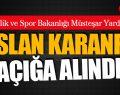 Gençlik ve Spor Bakanlığı Müsteşar Yardımcısı Aslan karanfil açığa alındı!