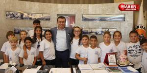 Kıbrıslı çocuklardan Taşçı'ya teşekkür