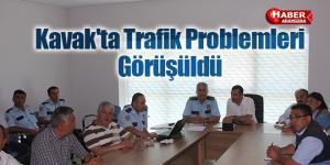 Kavak'ta Trafik Problemleri Görüşüldü