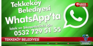 Tekkeköy Belediyesi WhatsApp'ta