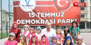 Tekkeköy Belediyesinin yeni parkının ismi 15 Temmuz Demokrasi parkı oldu