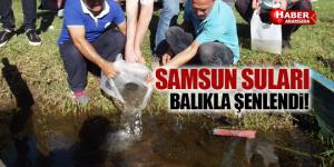 Samsun'un İç Suları Balıklandırıldı