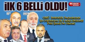OMÜ'de Altı Rektör Adayı Seçimle Belirlendi