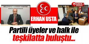 MHP Grup Başkanvekili Erhan Usta'dan Teşkilat Ziyareti