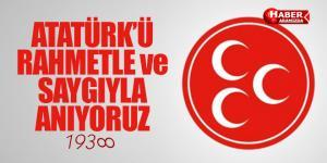MHP Samsun  – Atamızı Saygı ve Minnet ile Anıyoruz