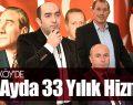 Togar 'Tekkeköy'de 33 ayda 33 yılık hizmet'