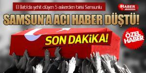 Samsun Çarşamba'ya Şehit Ateşi Düştü! Uzman Çavuş Ramazan Taşkın Şehit Düştü!
