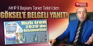 MHP Samsun İl Başkanı Tekin'den Göksel'e Belgeli Yanıt