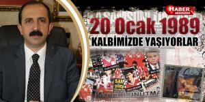 AK Parti İl Başkanı Göksel, '20 Ocak 1989'u unutmadık, unutmayacağız'