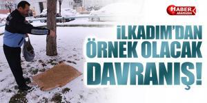 İLKADIM BELEDİYESİN'DEN ÖRNEK DAVRANIŞ