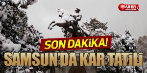 Samsun'da 9 Ocak Pazartesi Günü Kar Tatili İlan Edildi