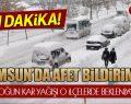 Samsun Valiliği AFET Raporuna Göre O İlçeler Uyarıldı!