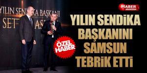 Ödül Alan Sendika Genel Başkanlarına Samsun'dan Tebrik