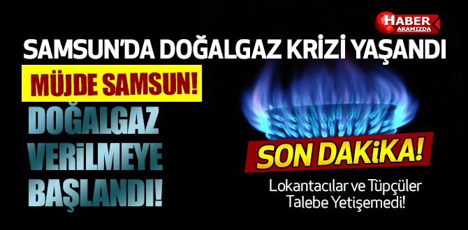 Samsun'da Doğalgaz Krizi Yaşandı! Samsunlu İsyan Etti