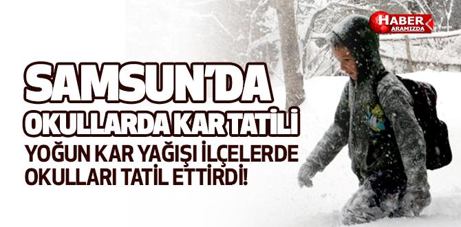 Samsun'da O Okullara Kar Tatili Verildi