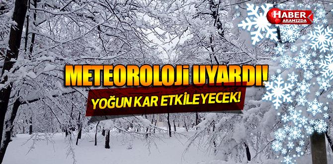 Meteoroloji Uyardı! Yoğun Kar Yurdu Etkisi Altına Alacak!