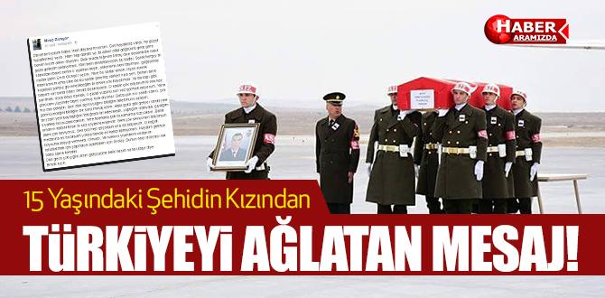 Türkiye'yi ağlatan mesaj