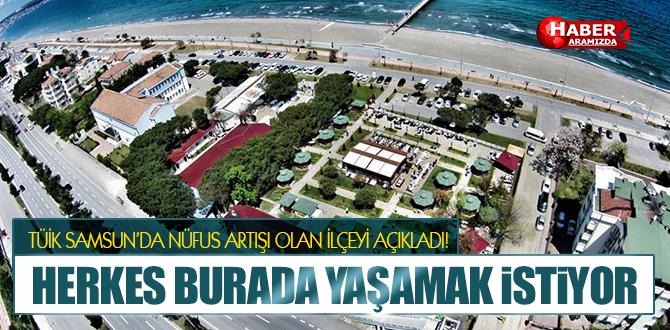 TÜİK Açıkladı! Samsun'da Yaşanacak Yer Atakum!