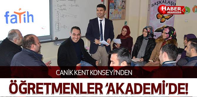 Canik Kent Konseyi'nden Öğretmenler 'Akademi'de