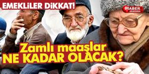 Emekliler Dikkat Zamlı Maaşlar …
