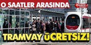 Samsun'da Tramvay O Saatler Arasında Ulaşım Ücretsiz