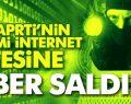 AK Parti'nin sitesine siber saldırı