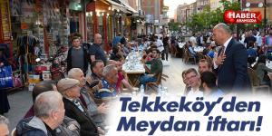 Samsun'un en büyük iftar sofrası Tekkeköy'de