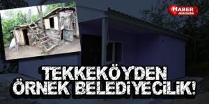 Tekkeköy Belediyesinden prefabrik ev