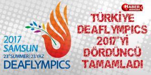 TÜRKİYE DEAFLYMPICS 2017'Yİ DÖRDÜNCÜ TAMAMLADI