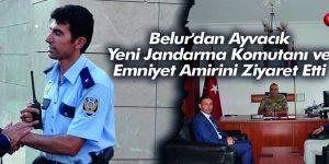 Belur'dan Ayvacık Yeni Jandarma Komutanı ve Emniyet Amirini Ziyaret Etti