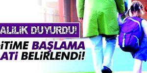 Samsun'da Okullar Sabah Okula Başlama Saati Belirlendi