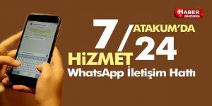 Atakum'da 7/24 İletişim WhatsApp hattı kuruldu