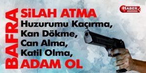 Bafra Belediyesi Silah Kampanyasını Destekledi