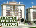 Tekkeköy'de TOKİ binaları hızla yükseliyor