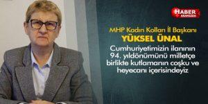 MHP Kadın Kolları İl Başkanı Yüksel Ünal'dan 29 Ekim Mesajı