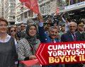 Samsun'da Cumhuriyet Yürüyüşüne Büyük İlgi