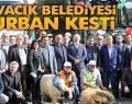 Ayvacık Belediyesi Yeni Araçlara Kurban Kesti