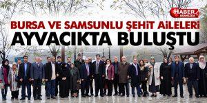 Bursa ve Samsunlu Şehit Aileleri Ayvacıkta