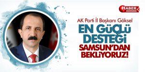 AK Parti İl Başkanı Göksel '2019'da en güçlü desteği Samsun'dan bekliyoruz'
