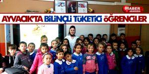 Ayvacık'ta Öğrencilere Bilinçli Tüketici Eğitimi Verildi